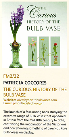 The Curious History of the Bulb Vase - RHS Cardiff programme entry